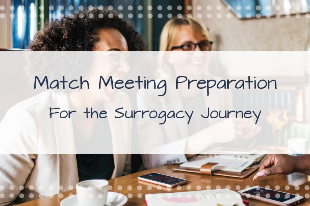 Surrogate Match Meeting Preparation: 8 Thoughts to consider when meeting your potential surrogacy match